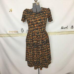 LuLaRoe Amelia Dress Fall Geometric Patters SZM